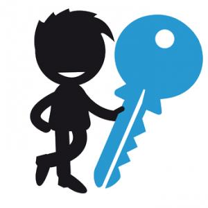 Schlüssel Junge